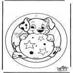 Maisterkowanie - Wywieszka na Okno 102 Dalmantyńczyki 2
