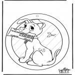 Maisterkowanie - Wywieszka na Okno 102 Dalmantyńczyki