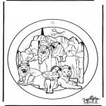Kolorowanki Biblijne - Wywieszka na Okno Daniel