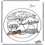 Maisterkowanie - Wywieszka na Okno Grzyby
