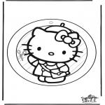 Maisterkowanie - Wywieszka na Okno Halo Kitty