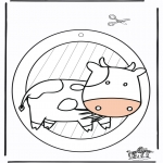Maisterkowanie - Wywieszka na Okno - krowa 1