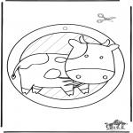 Maisterkowanie - Wywieszka na Okno - krowa 2