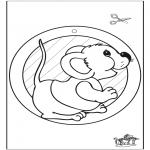 Maisterkowanie - Wywieszka na Okno Mysz