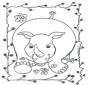 Zabawny nosorożec