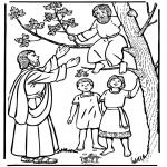 Kolorowanki Biblijne - Zachariasz i Jezus