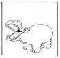 Zadowolony hipopotam