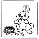 Tematy - Zajączek wielkanocny z jajkami 1