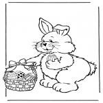 Tematy - Zajączek wielkanocny z jajkami 2