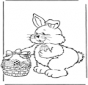 Zajączek wielkanocny z jajkami 2