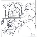 Kolorowanki Biblijne - Zamiana Wody w Wino