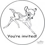 Maisterkowanie - Zaproszenie - Bambi