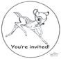 Zaproszenie - Bambi