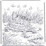 Zwierzęta - Żółw z Elfami