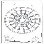 Mandala's - Zwierzęca Geomandala 4