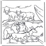 Kolorowanki Biblijne - Zwierzęta w Arce Przymierza